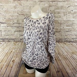 Express animal print side scrunch top size small